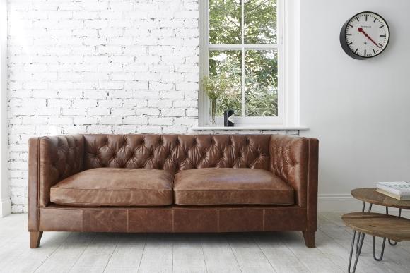 Edward Large Sofa in Galveston Bark