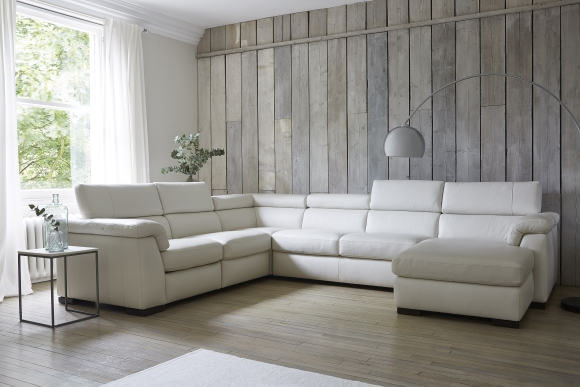 Francesca Large Corner Sofa with Chaise in 20JH Leather