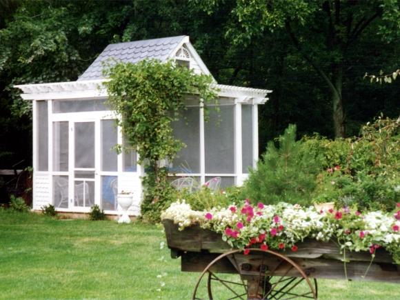 Back garden gazebo. Photograph by Kenn Kiser