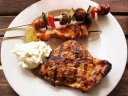 Barbecued food. Photograph by marsy