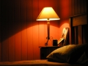 Bedroom lamp. Photograph by Paul Harvey