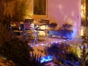 Lighting in a snowy garden. Photograph by Graham Soult