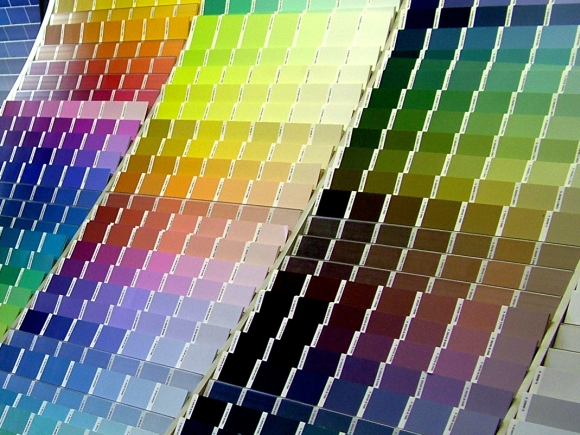 Paint chart. Photograph by LotusHead at Freeimages
