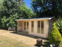 Garden summerhouse. Photograph by 1st Choice Leisure Buildings