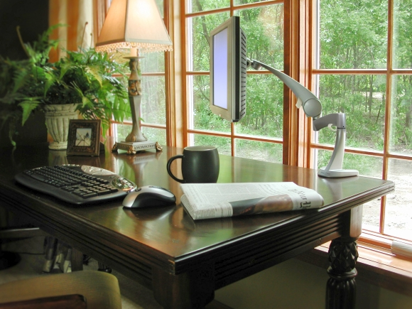 Home office. Photograph by Louis Hall