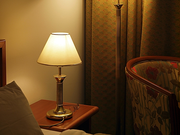 Room with lamp. Photograph by Darko Skender