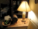 Lamp in living room. Photograph by Vinicius Vecoso