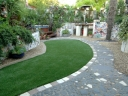 Getting the best from a long, thin garden. Image ©Earth Designs