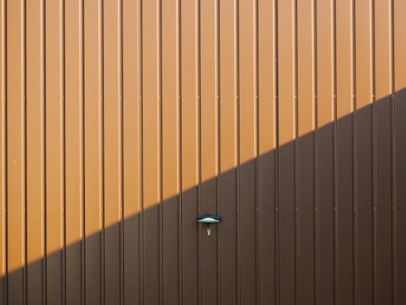 Garage door. Photograph by Mattox