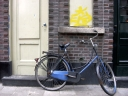 Blue bike. Photograph by Mn-que