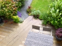 Garden with deck. Photograph by Graham Soult