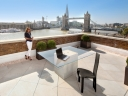 Porcelain tiles on an outdoor terrace