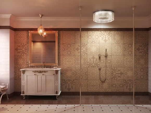 QS Supplies' Chandelier Shower concept