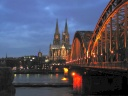 Cologne Cathedral and the Rhine. Photograph by Falk Schaaf
