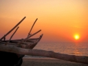 Sunset at Benaulim Beach, Goa. Photograph by Mandy Julian