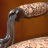 Vignette: Period chair. Photograph by Kay Pat
