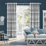 Vignette: Aguas Linen Splash Blue Curtains from Curtains 2go. Photograph by Blinds 2go