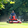 Vignette: Ride-on lawnmower. Photograph by Steve Woods