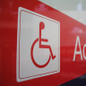 Vignette: Wheelchair sign. Photograph by Simon Gray